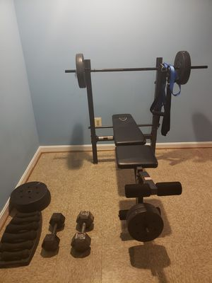 Weight bench,Dumbbell set. for Sale in Silver Spring, MD