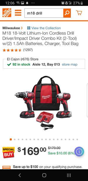 m18 impact drill combo brand new for Sale in El Cajon, CA