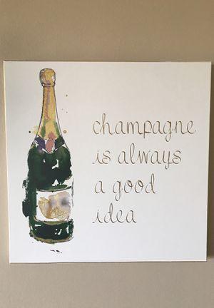Champagne Portrait/Canvas for Sale in San Francisco, CA