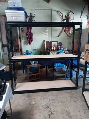 """Industrial type metal shelving 74"""" H x 72"""" W x 12"""" D $163.99 for Sale in San Jose, CA"""