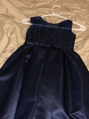 2 Girls wedding dress navy blue worn once for Sale in Houston, TX