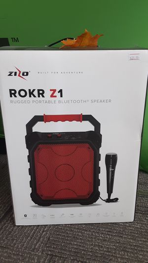 ROKR Z1 portable speaker!!! In red!! $40.00 great for family gathering!! for Sale in San Angelo, TX