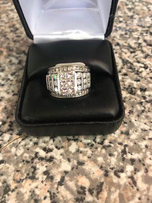 14kt 11.5 white gold diamond ring for Sale in Little Rock, AR