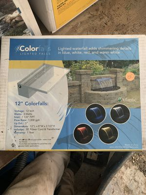 12 inch color changing waterfall box for Sale in Morgantown, WV