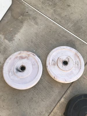 Pair of 45lb rubber plates for Sale in Upland, CA