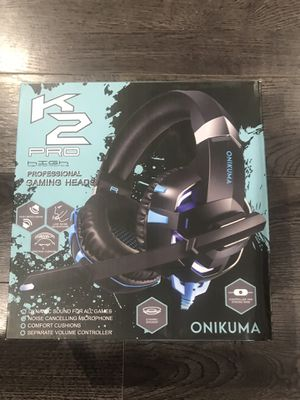 Onikuma K2 Pro, Gaming Headset, Black and blue for Sale in Fontana, CA