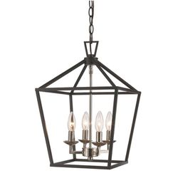 Black and Chrome Pendant light for Sale in Puyallup,  WA