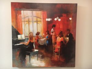 Coffee shop piano painting for Sale in Taylorsville, UT