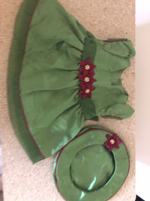 American Girl doll green dress with hat for Sale in Gilbert, AZ