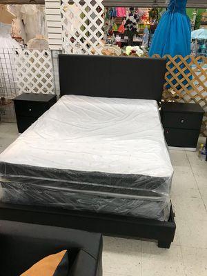 5 PCS BEDROOM SET NEW IN BOX FULL or QUEEN JUEGO DE HABITACIÓN TODO NUEVO EN SU CAJA - BED SET ( BED, MATRESS, BOX SPRING, 2 NIGHT STAND) for Sale in Hollywood, FL