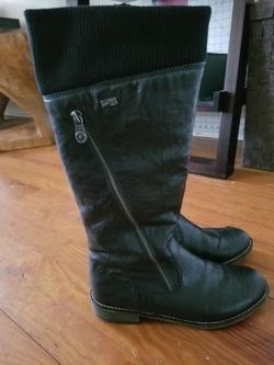 Rieker Women's Knee-high Black Boot Size 6.5(EU 37) for Sale in Haverford,  PA