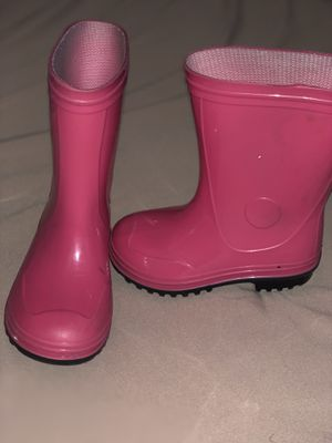Pink kids rain boots size 8 for Sale in Gainesville, GA