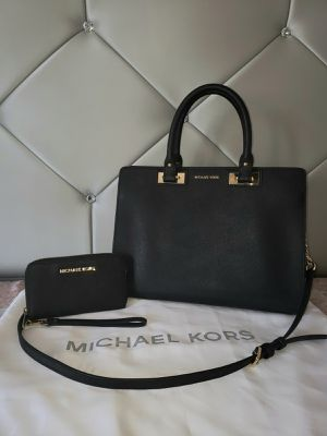 Michael Kors Black Saffiano Quinn Purse With Wallet 💯AUTHENTIC 👌 for Sale in San Diego, CA