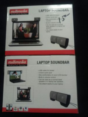 Laptop speakers USB and aux clip on for Sale in Merrillville, IN