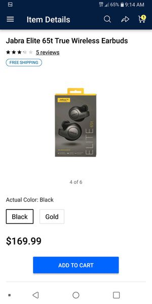 Jabra GN ELITE 65t True Wireless Bluetooth EarBuds for Sale in Frankford, MO