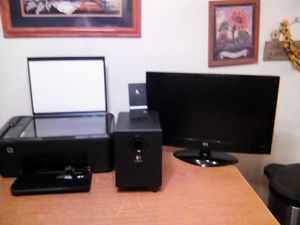 HP monitor ,HP printer copier scanner ,logic volume controlled sub for Sale in Billings, MT