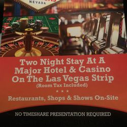 2 Nights Vegas Strip Hotel for Sale in Joint Base Lewis-McChord,  WA