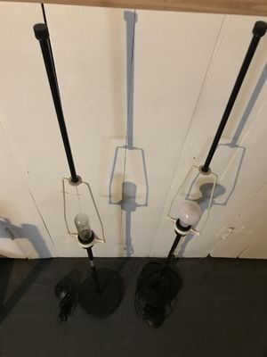 2 standing lamps minus lamp shades/ floor switches for Sale in Cleveland Heights, OH