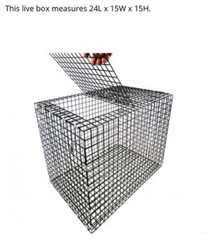 Fishing looking for fabricator to make this fish cage for Sale in South Elgin, IL