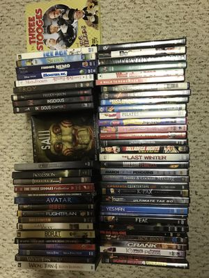 DVDS. DVD COLLECTION . ALL TYPES. BOX SETS ALSO. 63 DVDS. for Sale in Rochester, NY