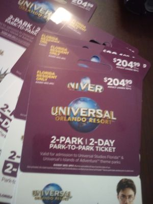 3 park 3 day passes. $100 for Sale in Lakeland, FL