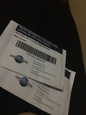 2 universal studios tickets for Sale in San Diego, CA