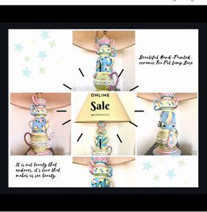 MAJOLICA CERAMIC TEAPOT LAMP BASE for Sale in Denver, CO