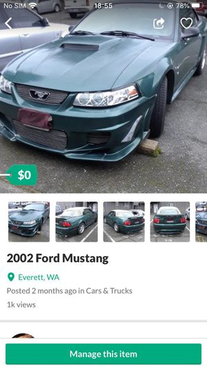 For mustang for Sale in Tacoma, WA