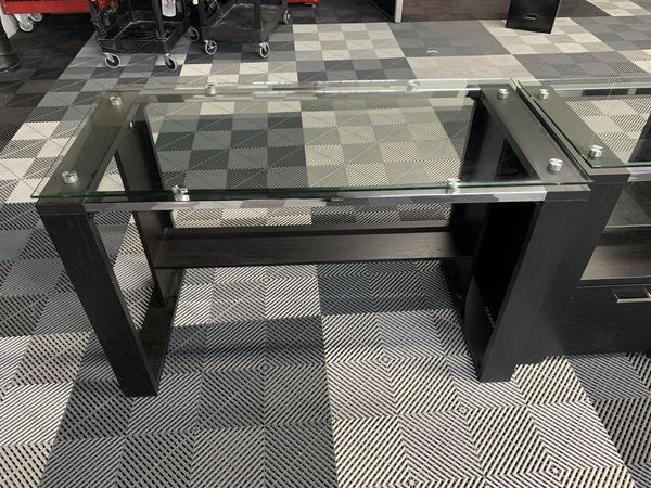 Glass Desks and Stand