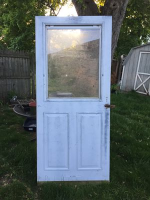 "Free Exterior door storm door 35""x 79"" for Sale in Hamilton Township, NJ"
