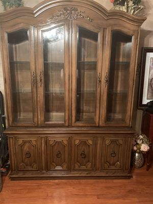 Antique China Cabinet /Breakfront / Hutch with lower buffet. for Sale in Oak Park, IL