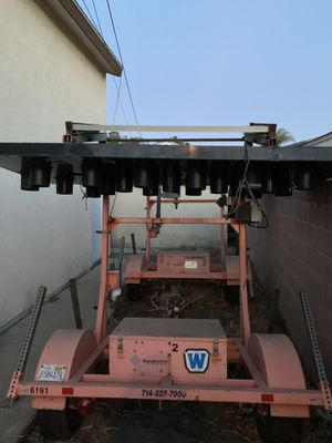 Arrow board trailer battery operated with solar panel for Sale in Artesia, CA