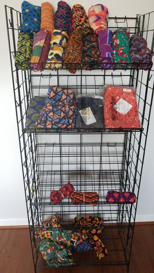 Foldable black metal rack with removable shelves for Sale in Chesapeake, VA