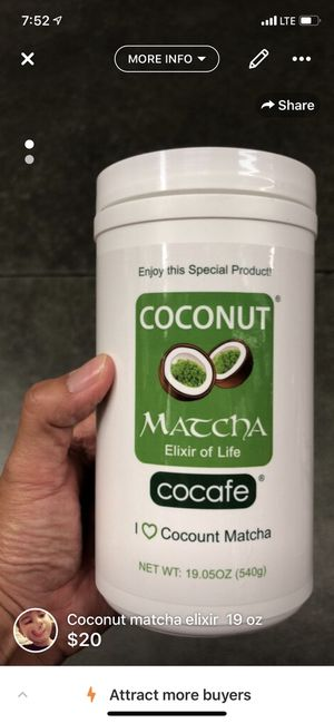 Coconut matcha elixir 19 oz for Sale in Fullerton, CA