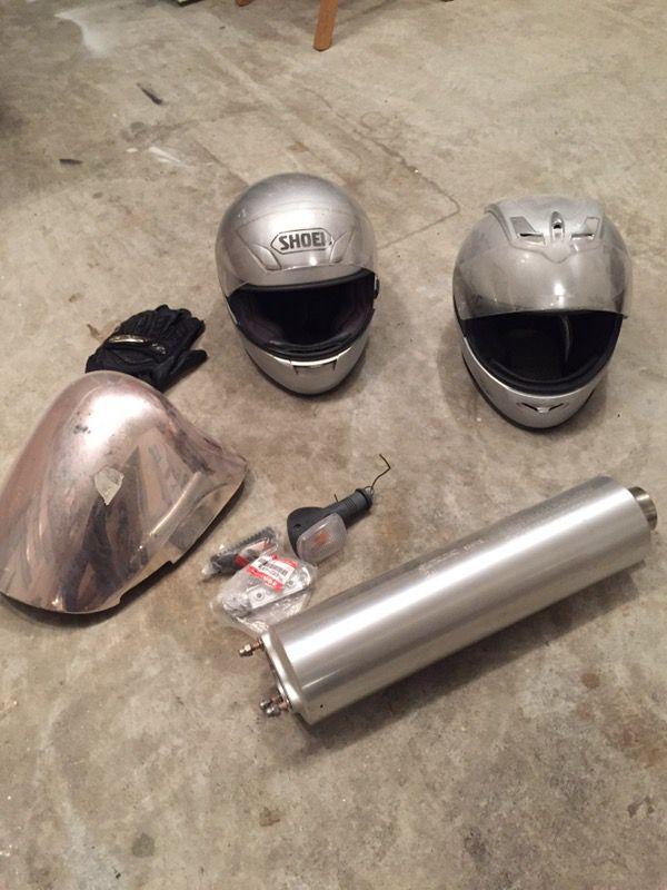 Motorcycle Helmets and Suzuki Hababusa Parts