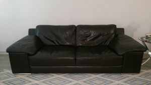 Last Chance - 100% Genuine Leather Sofa - Sell by Sat. 11am. for Sale in Riverview, FL