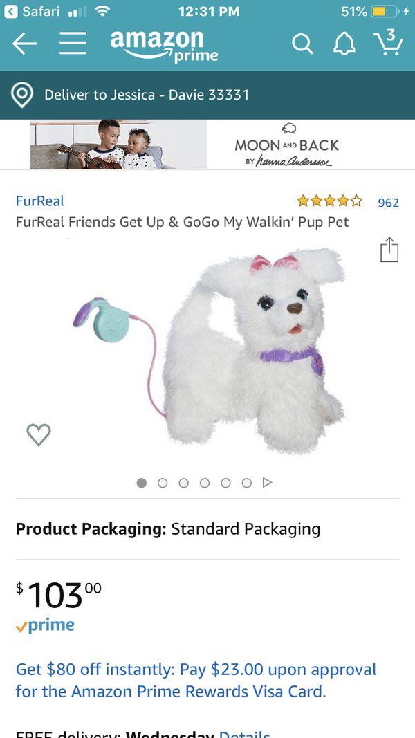 FurReal Friends walking, barking, panting dog.