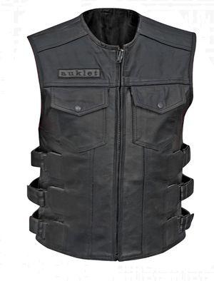 Men Motorbike Leather Vest for Sale in Alexandria, VA