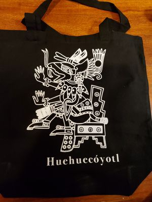 Tote bag with aztec deity Huehuecóyotl for Sale in Rancho Cucamonga, CA
