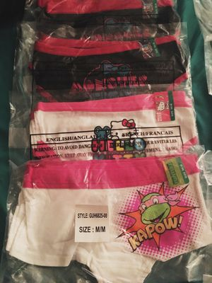 New Packaged Girls/Kids size Medium 8 underwear for Sale in Attleboro, MA
