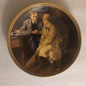 Norman Rockwell: Confiding In the Den Decorative Plate for Sale in Pomona, CA