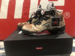 Shoes-Jordan Supreme Retro 5- 'Desert Camo'- Size 7 for Sale in San Clemente, CA