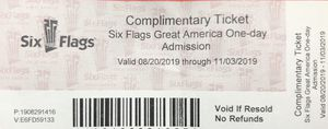 Six flags Gurnee fright fest for Sale in Aurora, IL