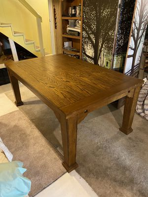 Sturdy Wooden Farm Table & 10 Chairs for Sale in Milton, PA