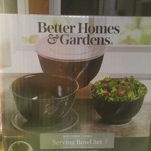Serving Bowls (BLACK MARVEL) for Sale in Peoria, IL