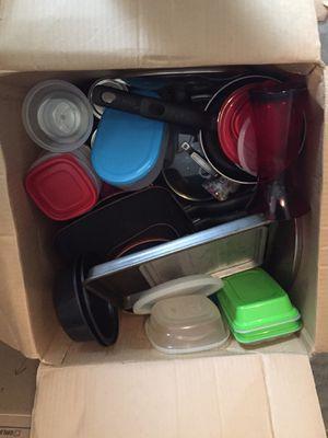 Box of kitchen items for Sale in Newport News, VA