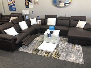 TOP GRAIN LEATHER SECTIONAL SOFA BROWN for Sale in Fort Worth, TX