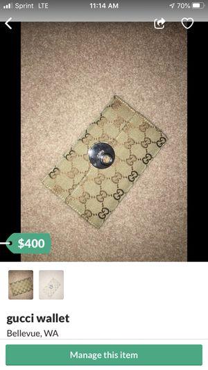 Gucci wallet for Sale in Bellevue, WA