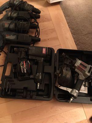 Nail guns and hammer drills for Sale in Tacoma, WA