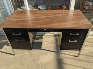 Mid century modern style office desk for Sale in San Mateo, CA
